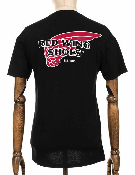 Red Wing Logo Tee - Black