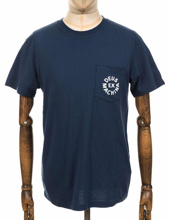 Deus Ex Machina Circle Logo Pocket Tee - Navy Colour: Navy In Blue