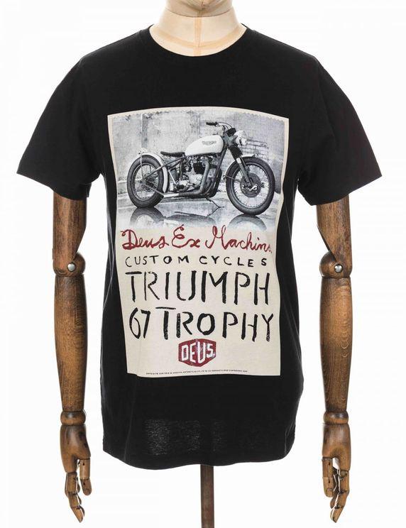 Deus Ex Machina Triumph Trophy Tee - Black Colour: Black