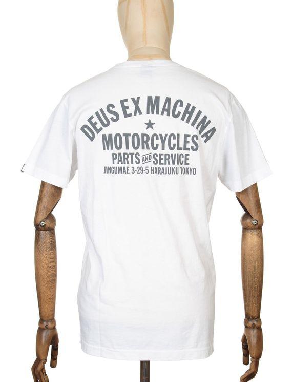 Deus Ex Machina Camperdown Address Tee - White Colour: White