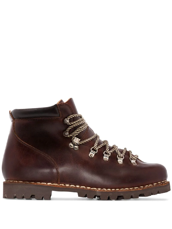 Paraboot Avoriaz Leather Hiking Boots In Marron