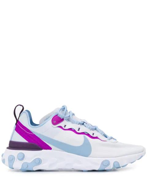 Nike React Element 55 Sneakers In 008Bianco