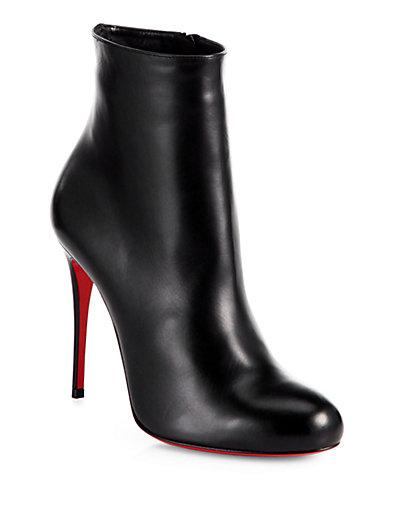 Christian Louboutin Fifi Leather Booties In Black