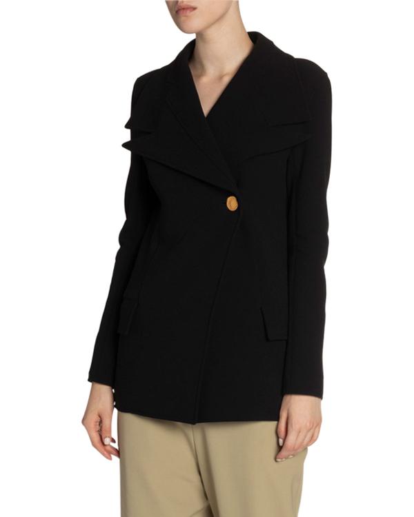 Proenza Schouler Wool Novelty-Lapel Blazer In Black