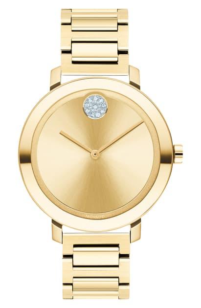 Movado Bold Evolution Watch, 34Mm In Gold