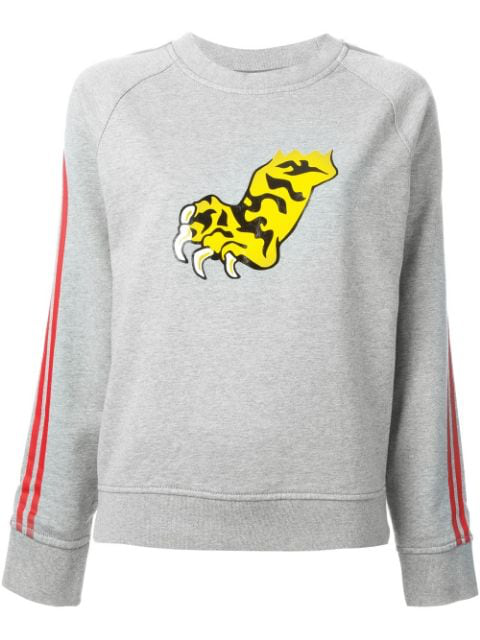 Marc By Marc Jacobs 'peyton Frech Terry Tiger' Sweatshirt In Grey