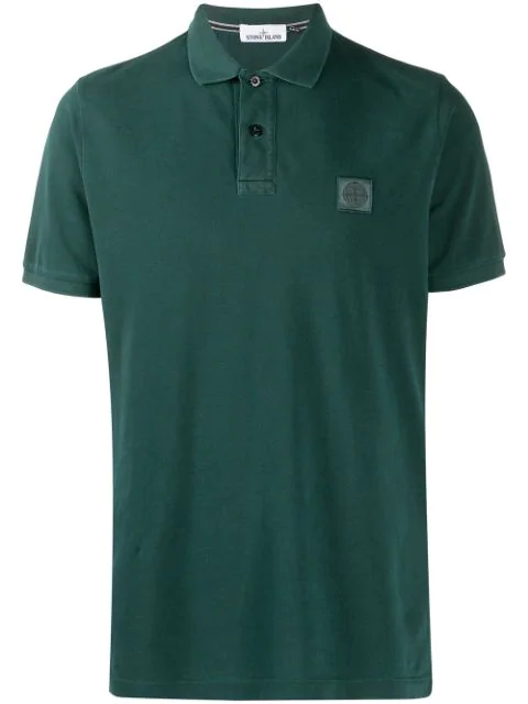 Stone Island Short-sleeve Polo Shirt In Green