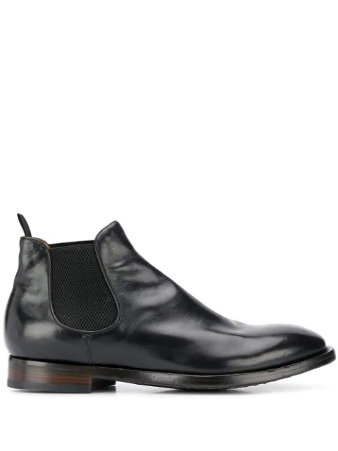 Officine Creative Emory 12 Chelsea Boots In Nero