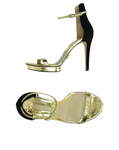 Michael Kors Sandals In Gold