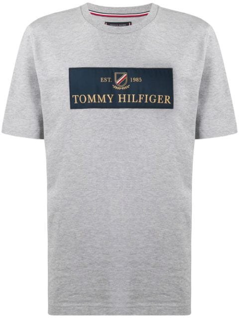 Tommy Hilfiger Iconic Organic Cotton Graphic T-shirt In Grey