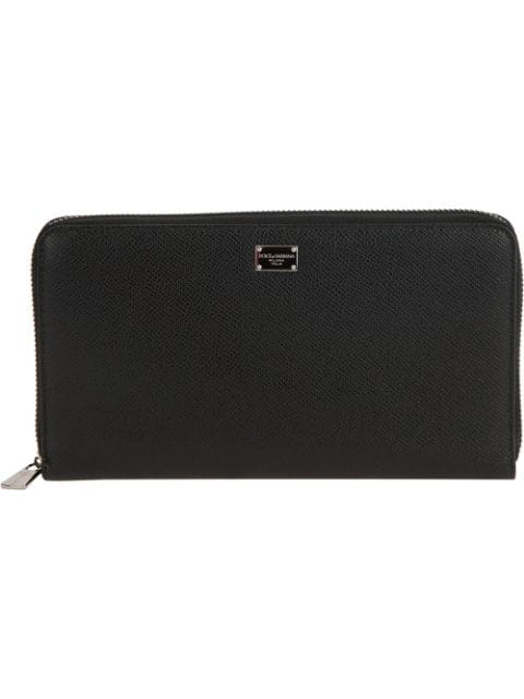 Dolce & Gabbana Zip Fastening Coat Wallet In Black