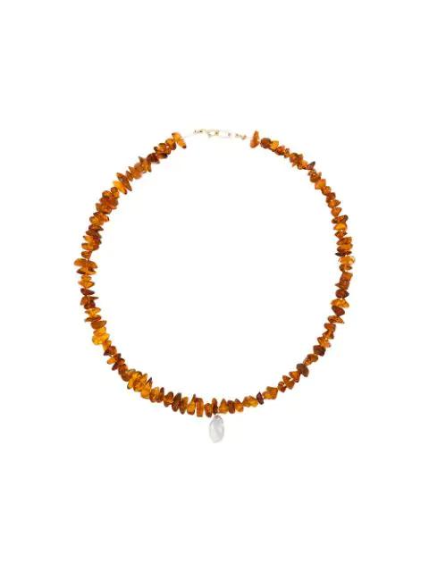 Holly Ryan Perlen-choker In Orange