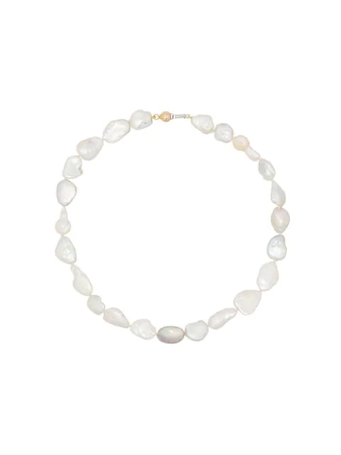 Holly Ryan Pearl-beaded Choker Necklace In White