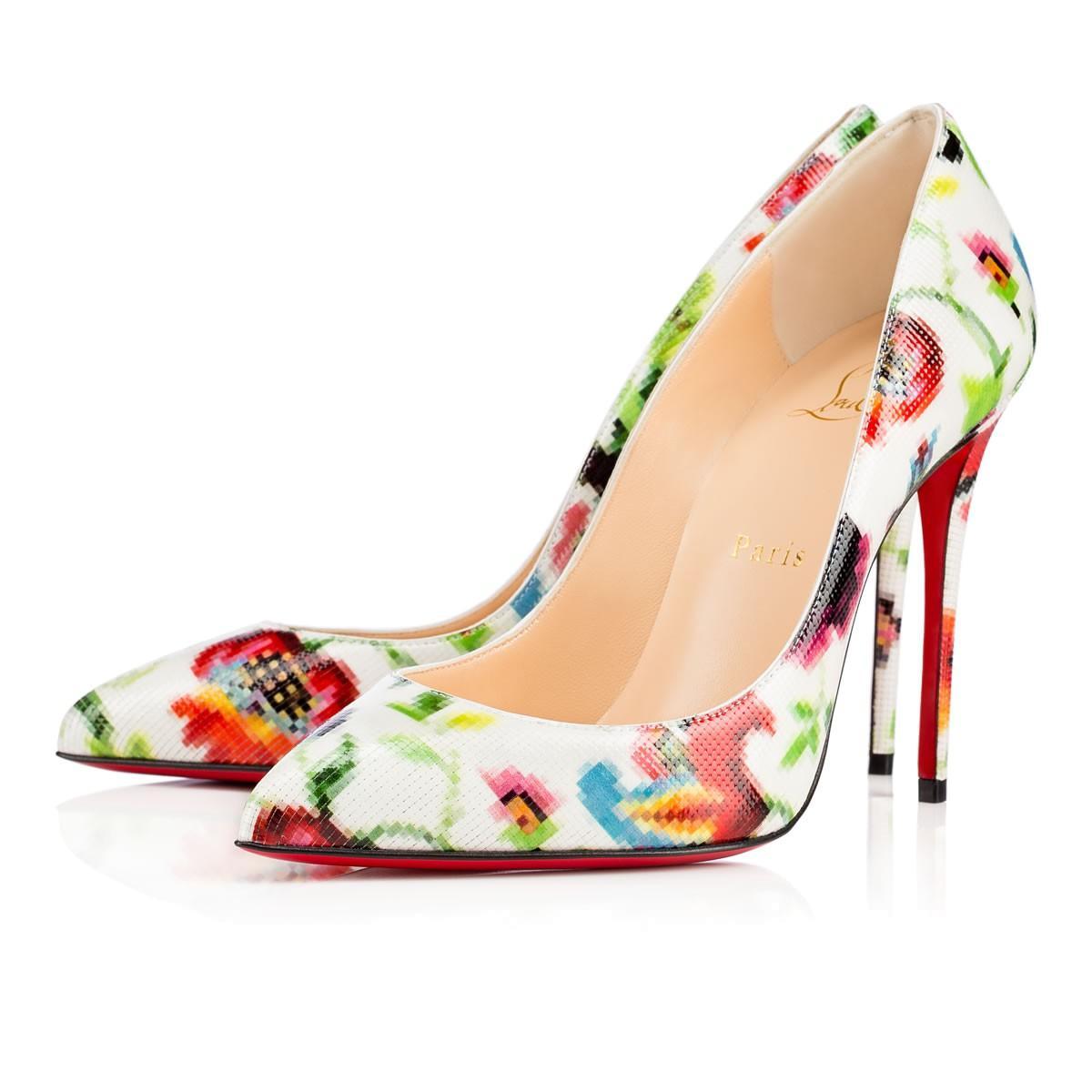 the latest 40c69 65d0a Pigalle Follies Patent Mosaique 100 Multicolor Patent Calfskin - Women  Shoes - Christian Louboutin