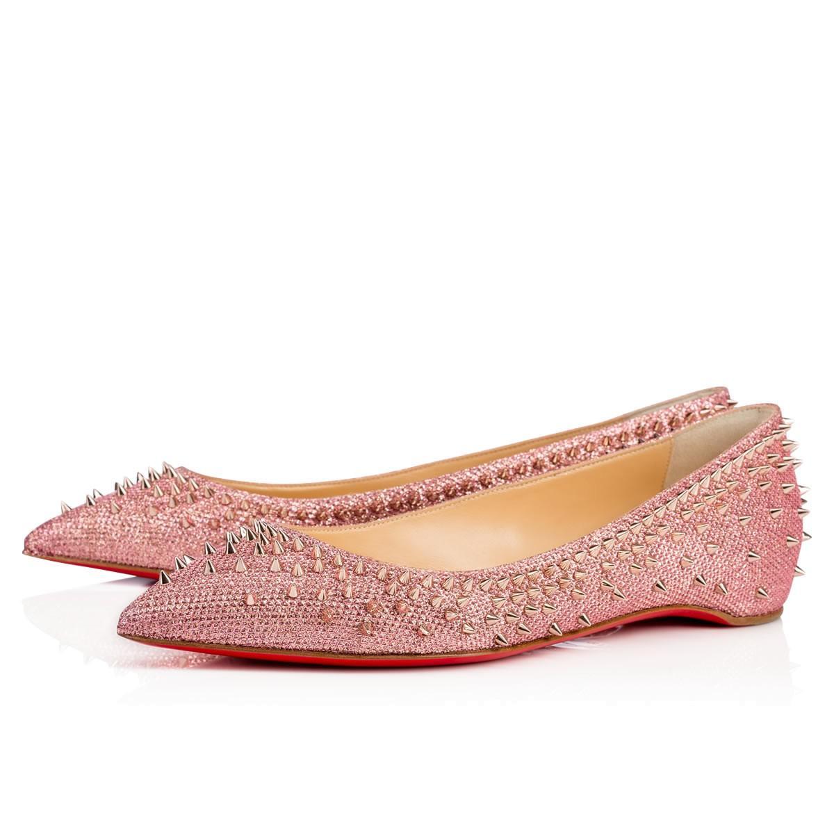 nouveau style 0c5c8 0aa1e Escarpic Flat Poudre/Pink Bronze Glitter - Women Shoes - Christian Louboutin