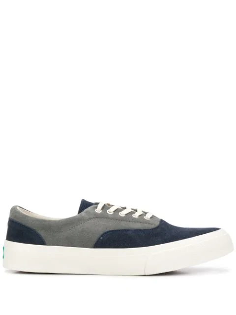 Ymc You Must Create Panelled Low-Top Sneakers In Blue
