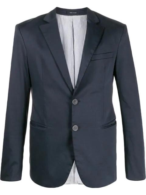 Pre-owned Giorgio Armani 2009 Tailored Blazer In Blue
