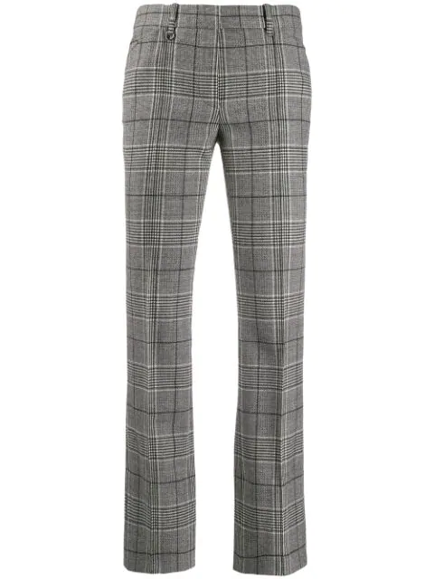 Barbara Bui Checked Trousers In Grey
