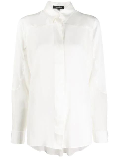 Barbara Bui Pearl Silk Shirt In White