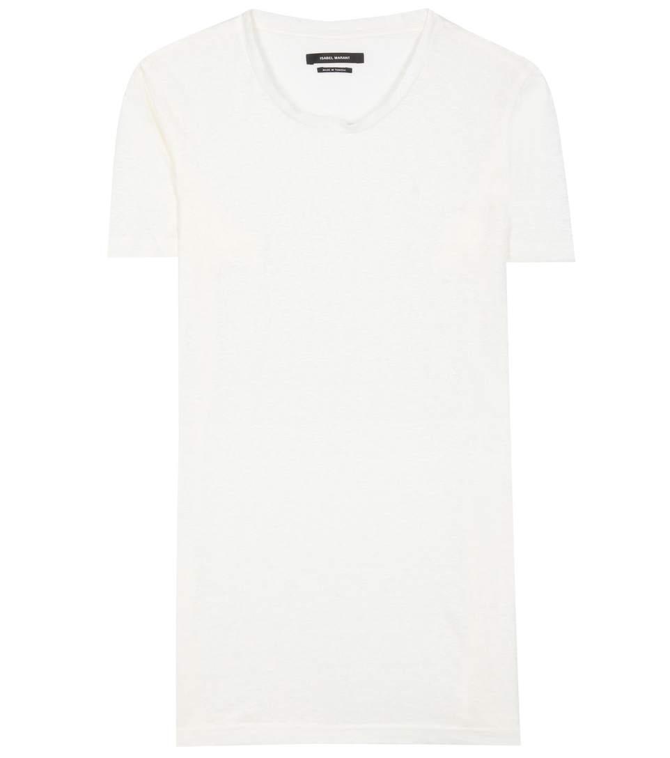 Isabel Marant Madras Linen T-shirt In White