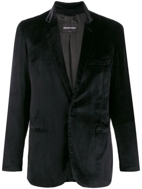 Pre-owned Giorgio Armani 1990s One-button Blazer In Black