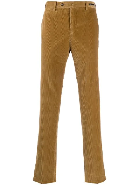 Pt01 Slim Corduroy Trousers In Brown
