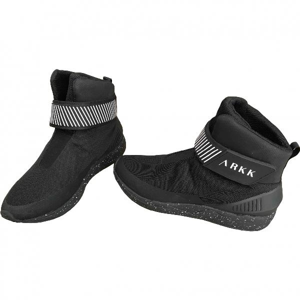 Arkk Black Cloth Trainers