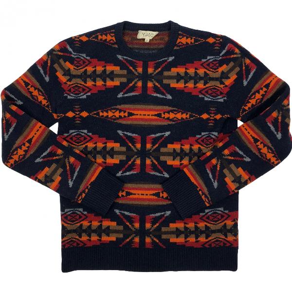 Ymc You Must Create Blue Wool Knitwear & Sweatshirts