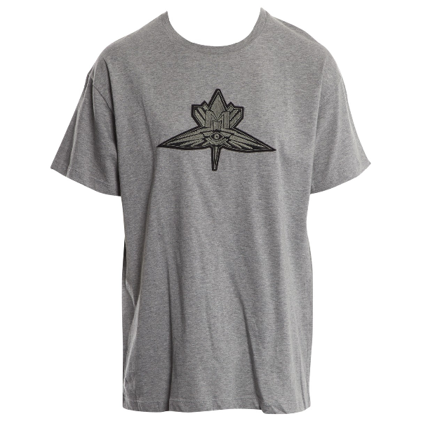 Mugler Grey Cotton T-shirts