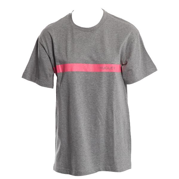 Mugler Grey Cotton T-shirts