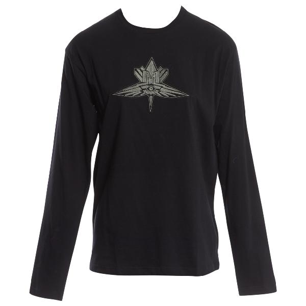 Mugler Black Cotton T-shirts