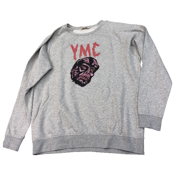 Ymc You Must Create Grey Cotton Knitwear & Sweatshirts