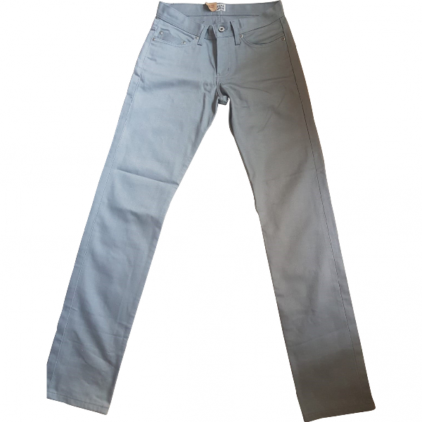 Naked & Famous Grey Cotton Jeans