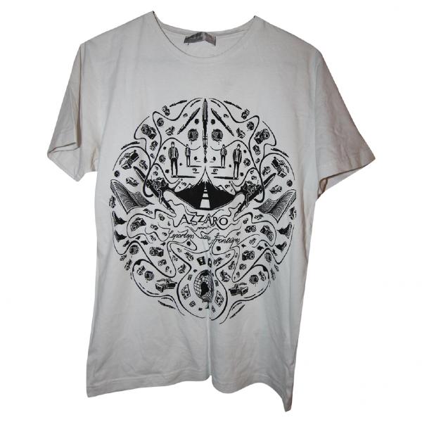 Azzaro White Cotton T-shirts