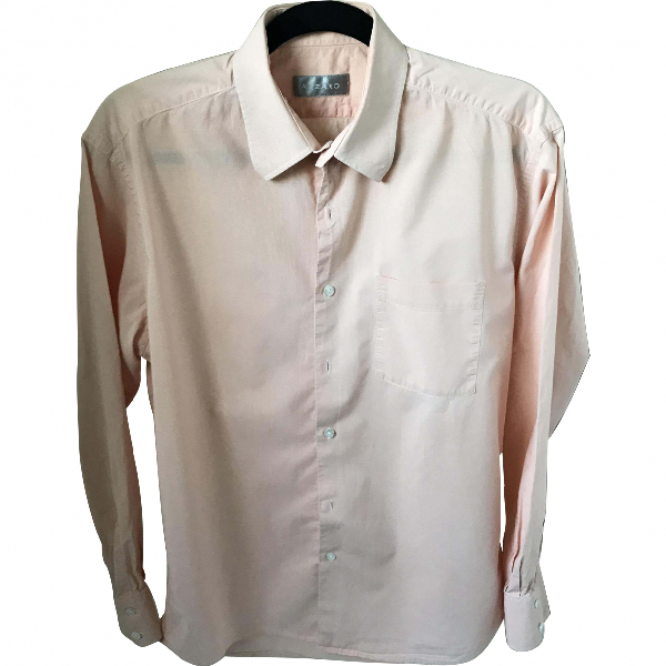 Azzaro Pink Cotton Shirts