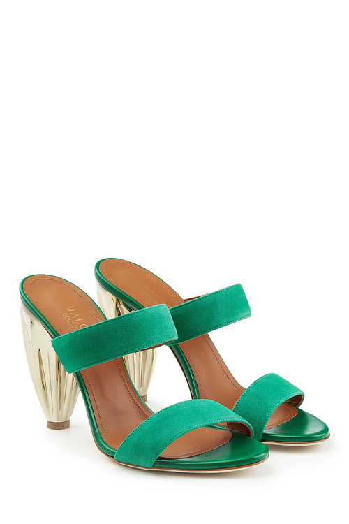 Malone Souliers Suede Sandals In Green