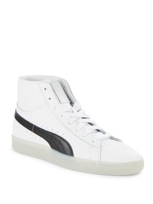 29423ba86aea Puma Men s Clyde Core Mid Core Foil Casual Sneakers From Finish Line In  White