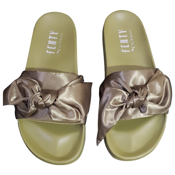 Fenty X Puma Green Rubber Sandals