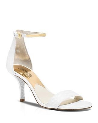 Michael Michael Kors Kristen High Heel In Optic White