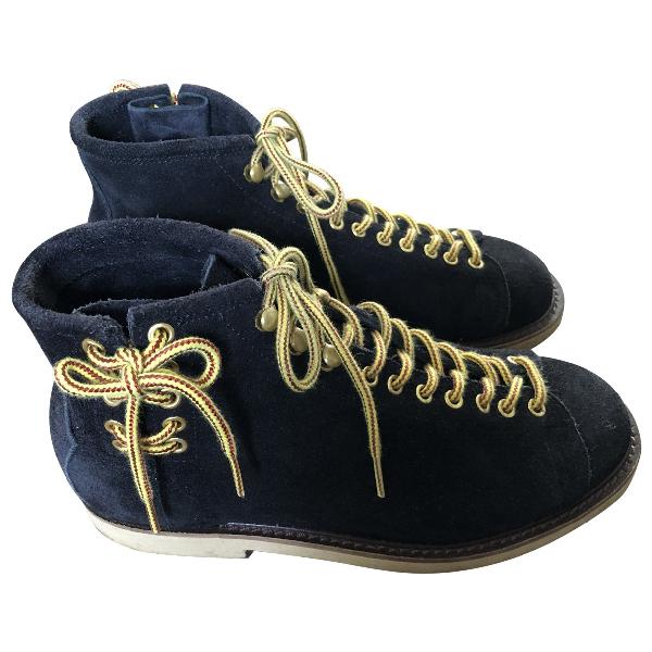 Facetasm Black Suede Boots