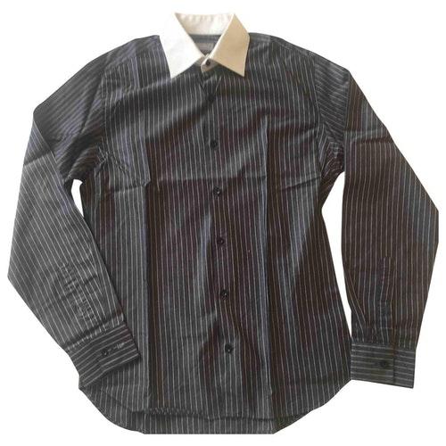 Azzaro Grey Cotton Shirts