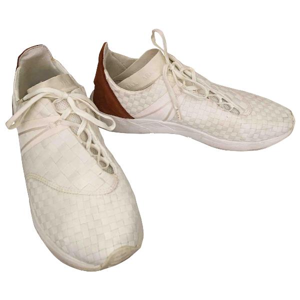 Arkk White Cloth Trainers