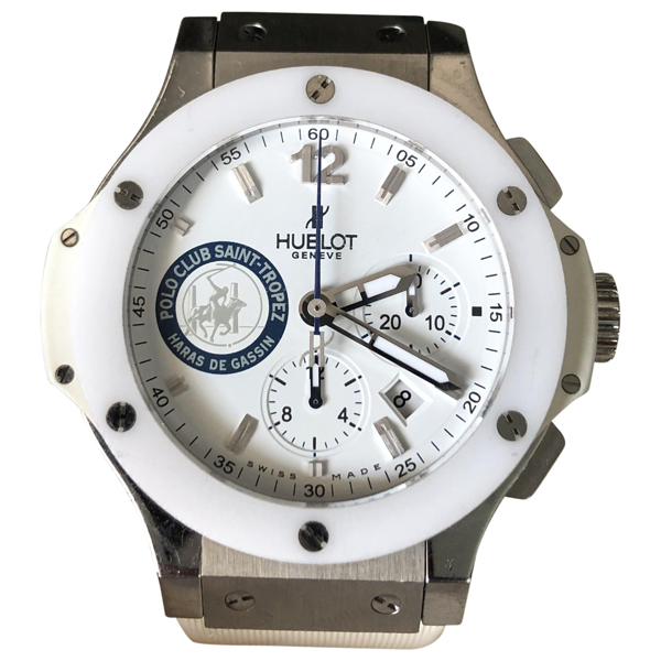 Hublot Big Bang  White Steel Watch