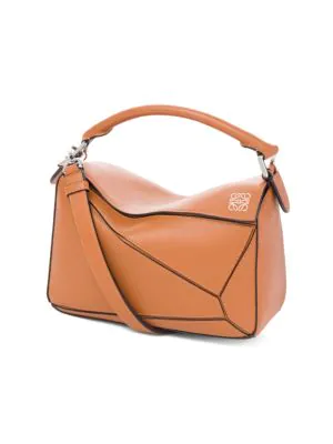 Loewe Puzzle Small Multi-function Leather Bag In Light Caramel