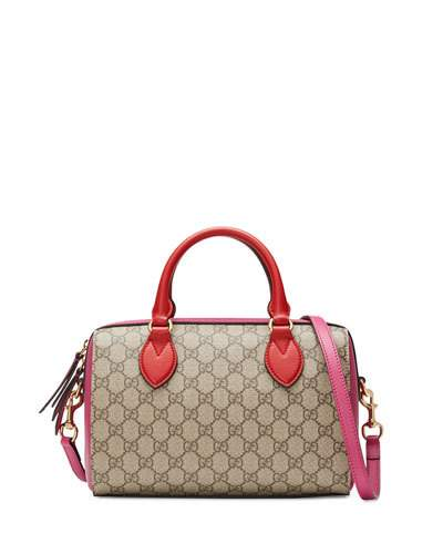 02d19747a60b Gucci Gg Supreme Small Top-Handle Bag, Red/Pink In A | ModeSens