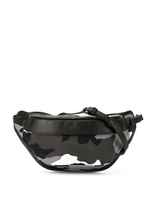 Juun.j Camouflage Print Belt Bag In Black