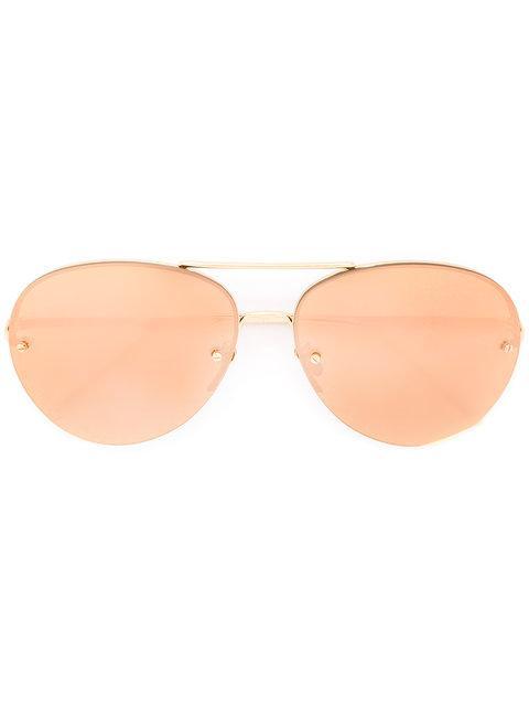 Linda Farrow Aviator Sunglasses - Metallic