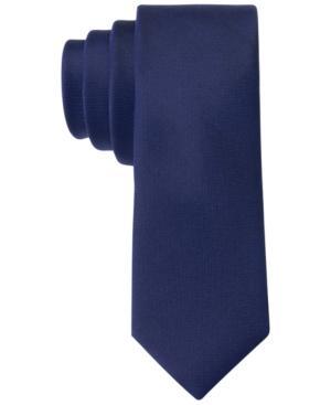 Calvin Klein X Liquid Luxe Skinny Solid Tie In Cobalt