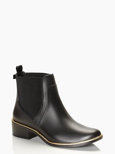 Kate Spade Sedgewick Rubber Rain Boot In Black  Modesens-9881