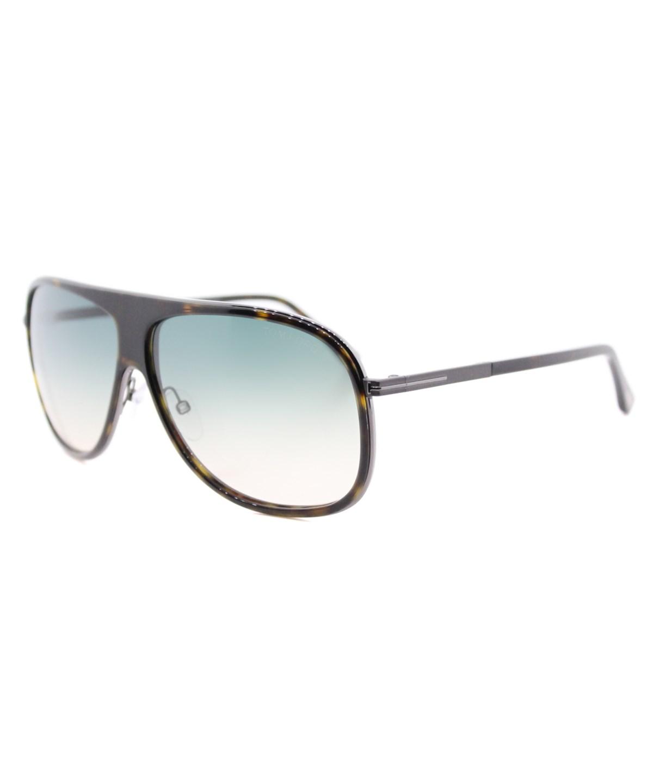 Tom Ford Chris Aviator Plastic Sunglasses' In Havana/other/ Gradient Green